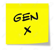Gen X written on a yellow sticky note making a great concept for Generation X